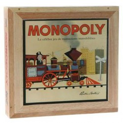 Monopoly série nostalgie avec boîte en bois