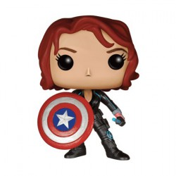 Funko Pop! Marvel Black Widow avec le bouclier de Captain America