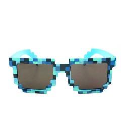 Lunettes de soleil style Minecraft Bleues