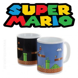 Super Mario Bros Build a level mug thermo-réactif x 1