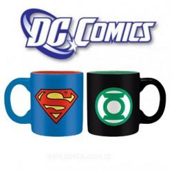 DC Comics Set 2 mini-mugs Superman et Green Lantern 110 ml
