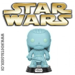 Funko Pop! Star Wars Qui Gon Jinn Holographic Phosphorescent Edition limitée Galactic Convention 2017