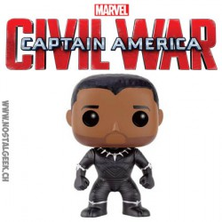 Funko Pop! Marvel Captain America Civil War - Black Panther Unmasked Edition Limitée