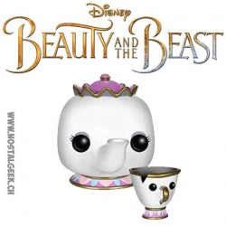 Funko Pop! Disney Belle et la Bête Mme Samovar et Zip