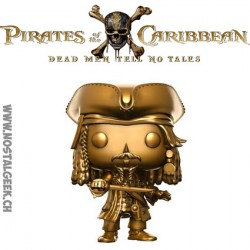 Funko Pop! Movie Pirates of the Caribbean Dead Men Tell No Tales Jack Sparrow Gold Edition Limitée