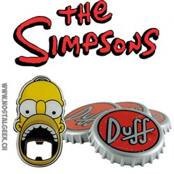 The Simpsons Duff Beer Set de 4 sous-verres et 1 décapsuleur