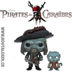 Pop SDCC Movies Pirates of the Caribbean Cursed Barbossa wiht Monkey Exclusive Vinyl Figure