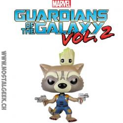 Funko Pop! Marvel Gardien de la Galaxie Rocket avec Groot Edition Limitée