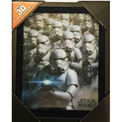 d coration star wars stormtroopers 3d lenticular cadre geek suiss. Black Bedroom Furniture Sets. Home Design Ideas