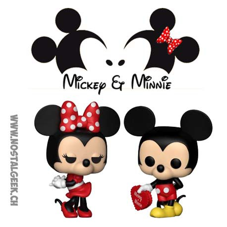 Funko Pop Disney Mickey et Minnie Valentine Edition Limited