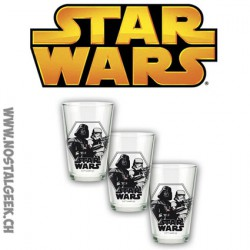 Star Wars Set de 3 verres Darth Vader et Stormtrooper