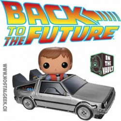 Funko Pop! Film Retour vers le futur Marty McFly avec Delorean (Vaulted)