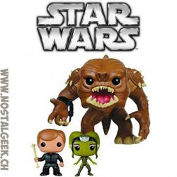 Funko Pop! Star Wars Rancor with Luke Skywalker and Slave Oola limited edtion pack