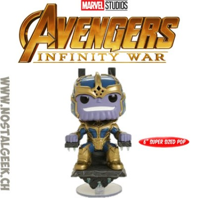 Funko Pop Marvel Avengers Infinity War Thanos With Throne Edition Limitée