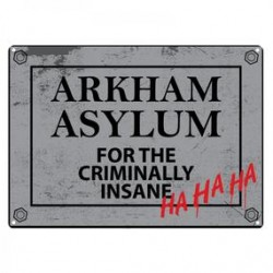 New DC Comics Arkham Asylum Metal Sign Plaque 21 x 15cm Wall Art Official
