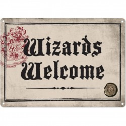 """Harry Potter """"Wizards Welcome"""" Small Tin Sign"""