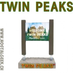 "Twin Peaks ""Welcome to Twin Peaks"" Sign Monitor Mate Bobble Action Figure"