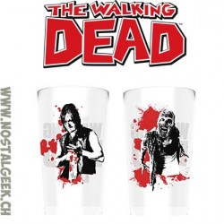 The Walking Dead Set de 2 Verres Daryl Dixon Vs Walker