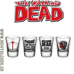 The Walking Dead Set de 4 Verres à Liqueur
