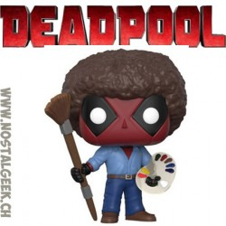 Funko Pop Marvel Deadpool as Bob Ross Vinyl Figure