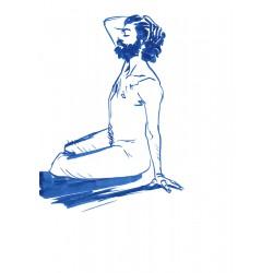 Dessin Original A4 d'une femme nue, Par Mekaeli