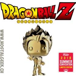 Funko Pop Animation SDCC 2018 Dragon Ball Z Vegeta Gold Chrome Edition Limitée