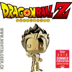 Funko Pop Animation SDCC 2018 Dragon Ball Z Vegeta Gold Chrome Exclusive Vinyl Figure