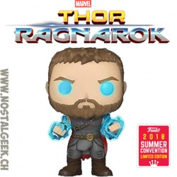 Funko Pop Marvel SDCC 2018 Thor Ragnarok Thor (Odin Force) Edition Limitée