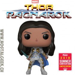 Funko Pop Marvel SDCC 2018 Thor Ragnarok Valkyrie (Battle Outfit) Edition Limitée