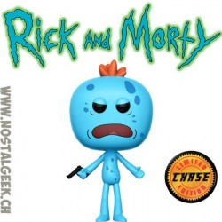 Funko Pop Rick et Morty Mr Meeseeks (Gun) Chase Exclusive Vinyl Figure