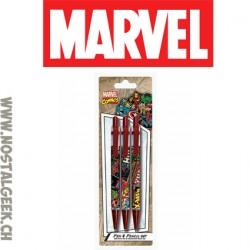 Marvel Set de fourniture Scolaire Stylos et porte-mines
