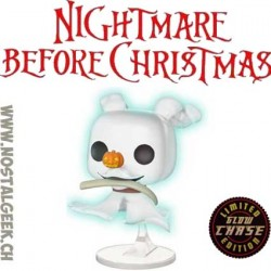 Funko Pop Disney Nightmare Before Christmas Zero with Bone Chase GITD Exclusive Vinyl Figure