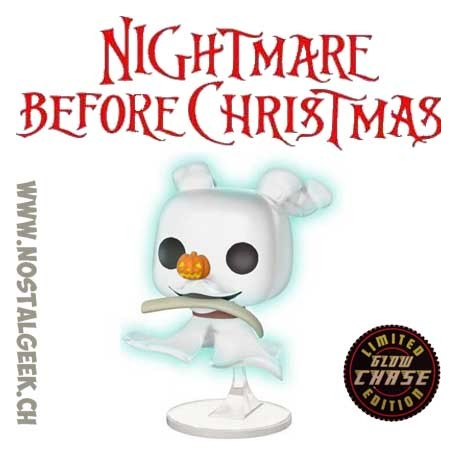 cdc7cca2934 Funko Pop Disney Nightmare Before Christmas Zero with Bone Chase GITD  Exclusive Vinyl Figure
