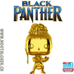 Funko Pop NYCC 2018 Funko Pop Marvel NYCC 2018 Black Panther Shuri Gold Chrome Exclusive Vinyl Figure