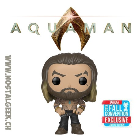 Funko Pop DC NYCC 2018 Aquaman Arthur Curry Shirtless Edition limitée