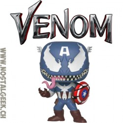 Funko Pop Marvel Venom Venomized Captain America (Rare)