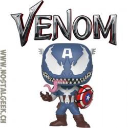 Funko Pop Marvel Venom Venomized Captain America (Rare) Vinyl Figure