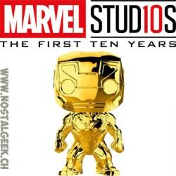 Funko Pop Marvel Studion 10th Anniversary Iron man (Gold Chrome) Edition Limitée