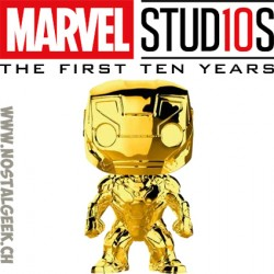 Funko Pop Marvel Studion 10th Anniversary Iron man (Gold Chrome) Edition Limitée