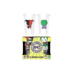 Glasses DC Comics Original Harley Quinn et Joker Chibi