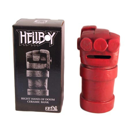 Hellboy Right Hand of Doom Ceramic Money Bank Lootcrate Exclusive by Zak Designs
