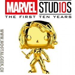 Funko Pop Marvel Studion 10th Anniversary Iron man (Gold Chrome) Exclusive Vinyl Figure