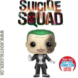 Funko Pop DC NYCC 2016 Suicide Squad The Joker (Grenade Damage) Edition Limitée