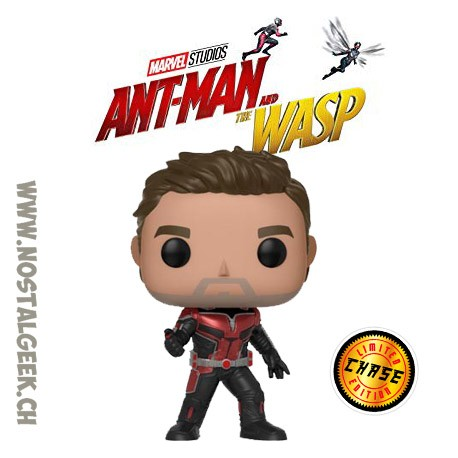 Funko Pop Marvel Ant-Man and The Wasp - Ant-man (Unmasked) Chase Edition limitée