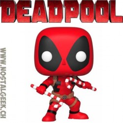 Funko Pop Marvel Holidays Deadpool (with Candy Canes) Vinyl Figure