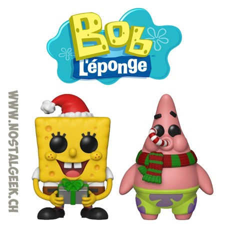 Bundle Funko Pop Spongebob Squarepants + Patrick Star (Holiday) Vinyl Figures