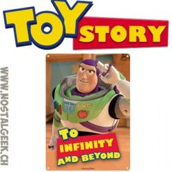Disney Toy Story Buzz Lightyear To Infinity and Beyond Small Tin Sign