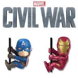 Pack Civil War Captain America Et Iron Man Neca Scalers Marvel