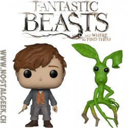 Bundle Funko Pop! Movies Fantastic Beasts 2 Newt Scamander (Wand) + Pickett Vinyl Figure