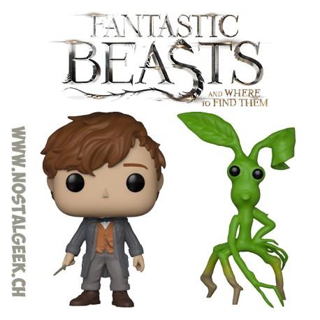 Bundle Funko Pop! Movies Fantastic Beasts Newt Scamander (Wand) +Pickett